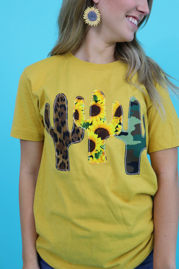 Cactus Trifecta Tee [Sunflower Mix]