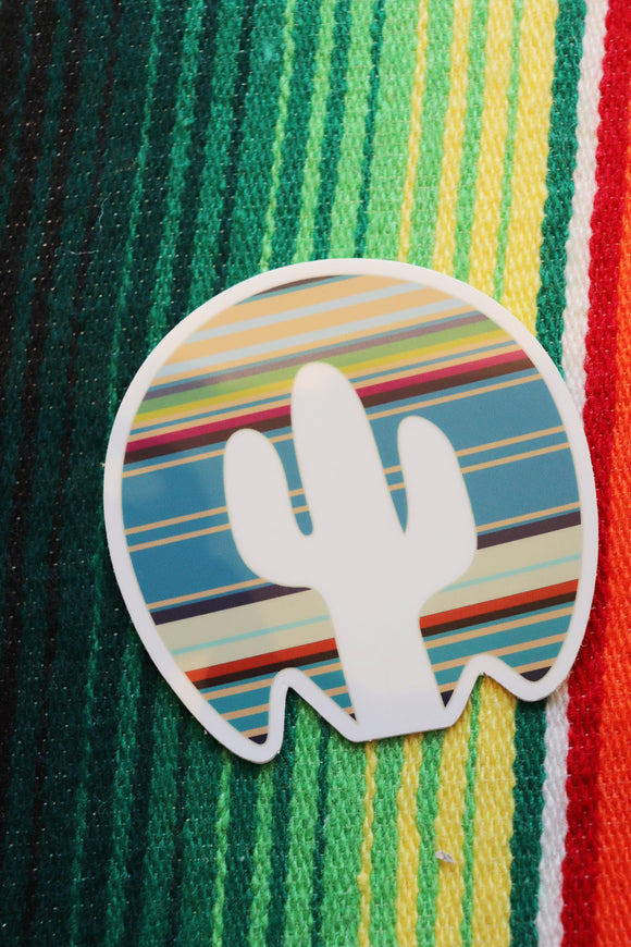 Navajo Cactus Horizon Sticker