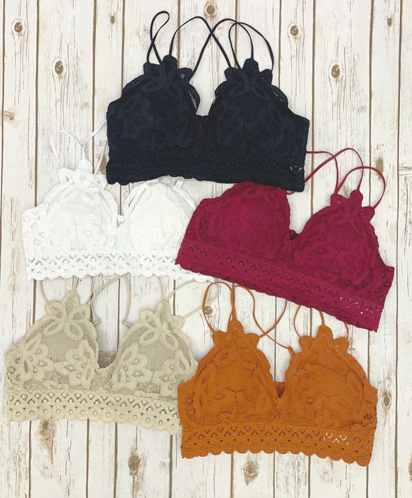 The Sweet Queen Size Lace Bralette [5 Colors]