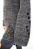 Last Call Dawson Distressed Sweater [Charcoal]