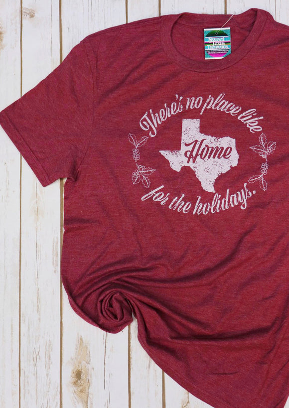 Home for the Holidays Texas Tee