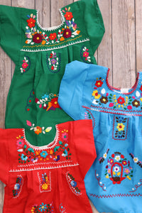 Girl's Embroidered Fiesta Dress [All Colors]