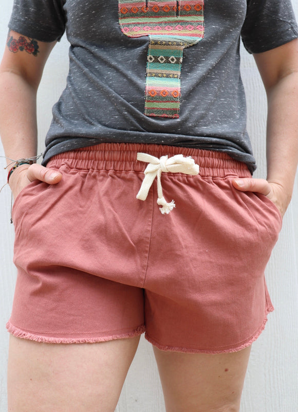 Caprock Chino Drawstring Shorts [Clay]