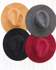 Wool Floppy Panama Hat [4 Colors]