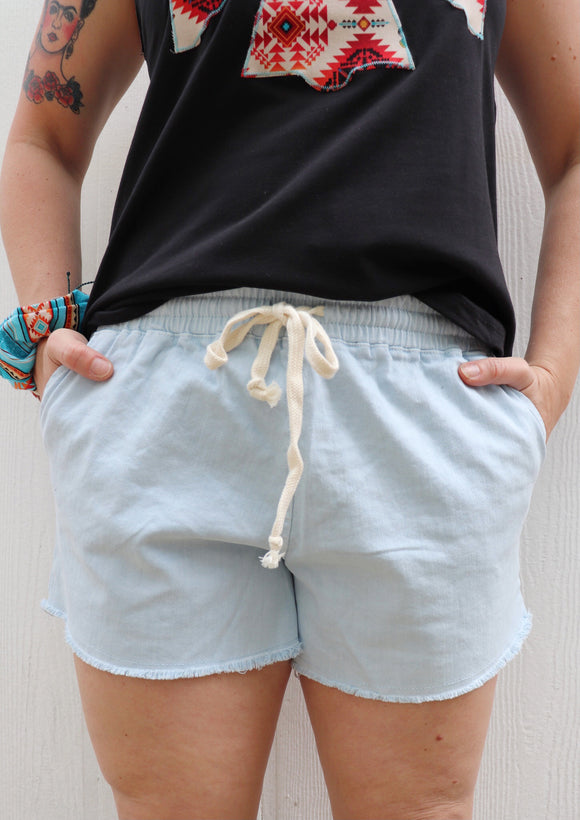 Caprock Chino Drawstring Shorts [Denim Blue]