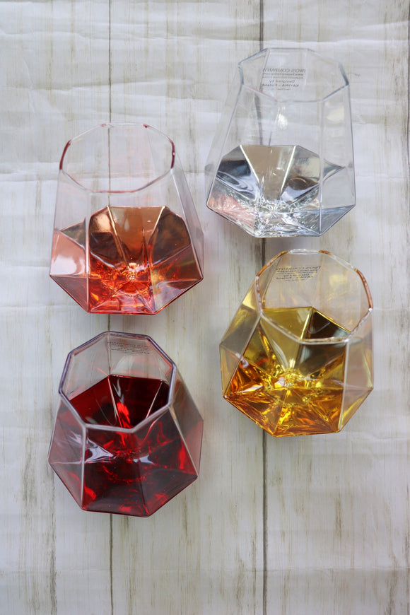 Diamond Wine Glasses [8 Colors]