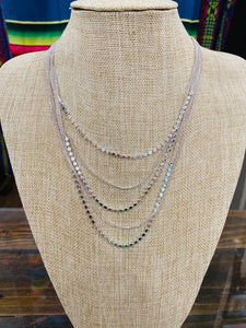Stacked Silver Necklace