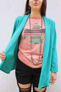 The Sweet Structured Blazer [Turquoise]