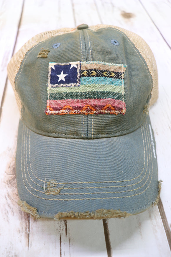 Desert Serape Flag Trucker Hat [All Colors]