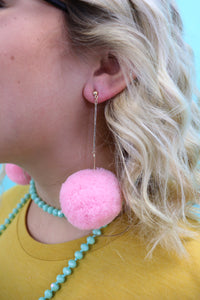 Wild Child Pom Earrings [10 colors]
