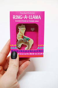 Ring-A-Llama Phone Stand