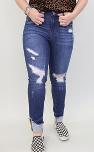 Crockett Cuff Distressed Jeans