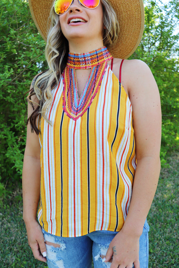 Last Call Heatwave Halter Tank Top
