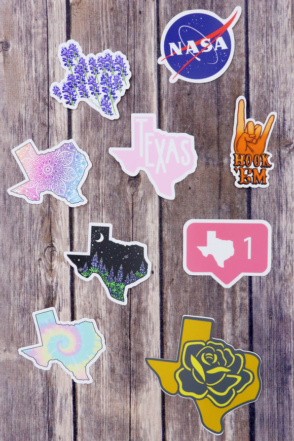 Texas On My Mind Stickers [9 Styles]