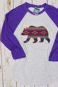 Montgomery Bears Game Day Raglan