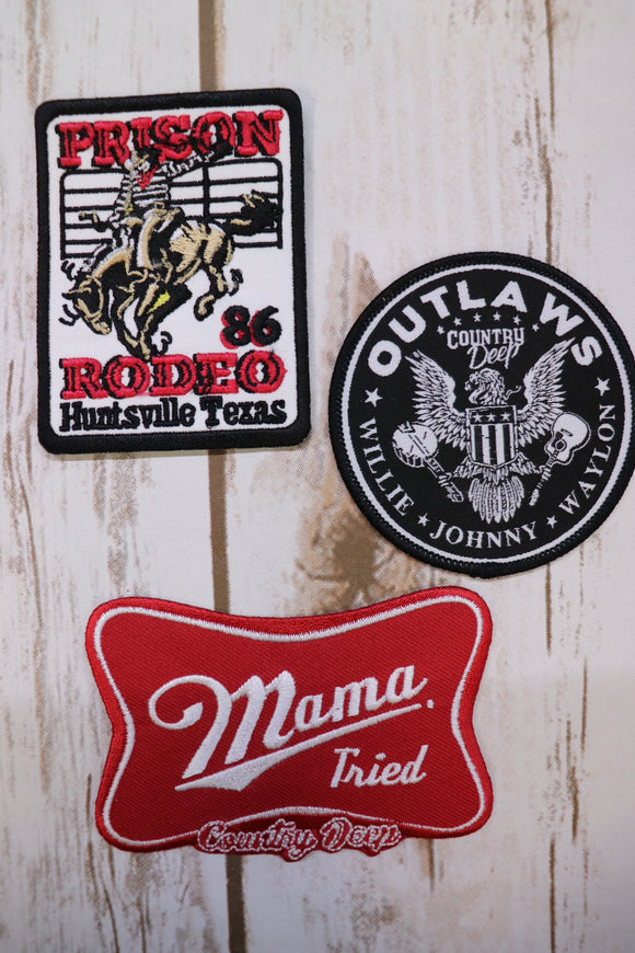 Country Outlaw Patches