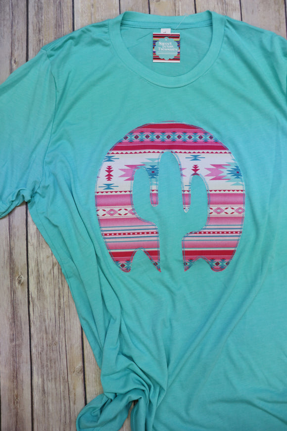 Sedona Pink Crew Neck Tee [Sea Green]