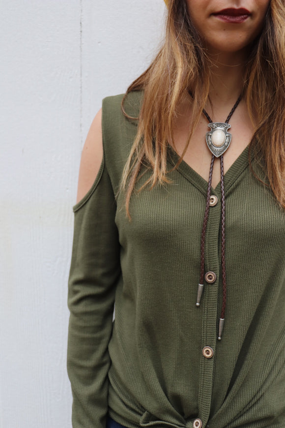 Arrowhead Bolo Necklace [2 Colors]