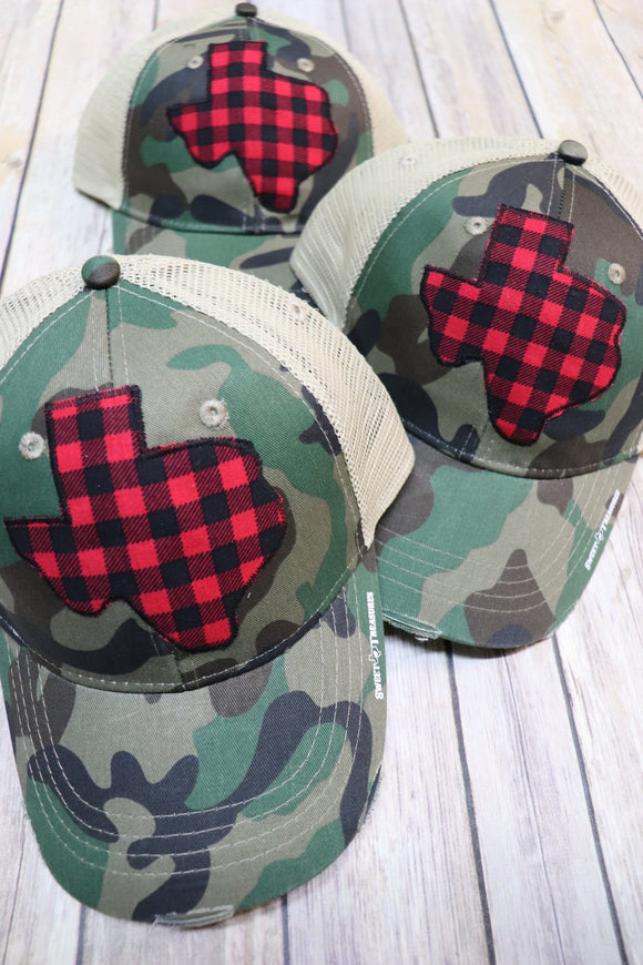Buffalo Plaid Trucker Hat