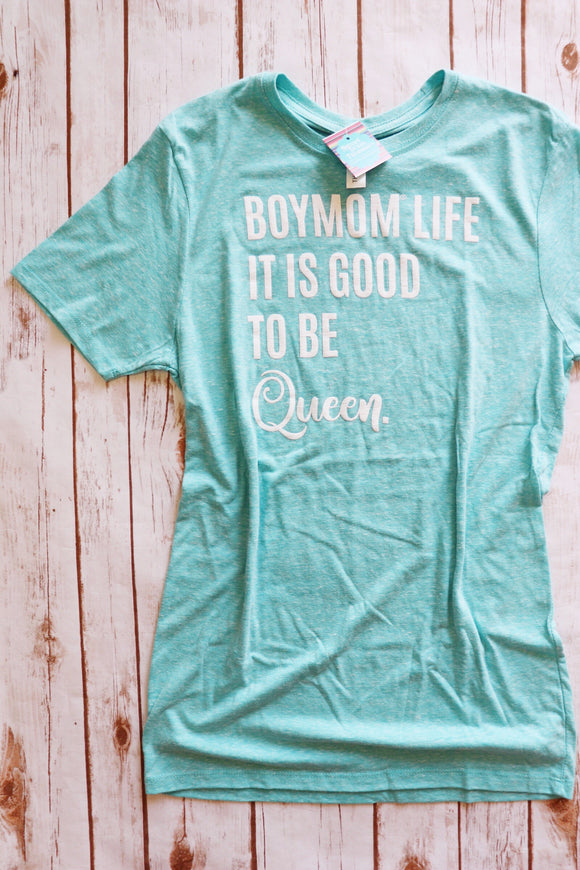BoyMom It's Good To Be Queen Tee