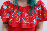 Last Call Ellie Embroidered Otomi Top