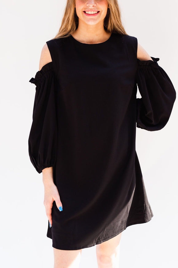 Corley Cold Shoulder Ruffle Dress