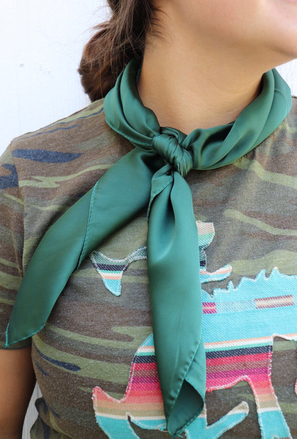 Solid Silk Vintage Neckerchief [5 Colors]