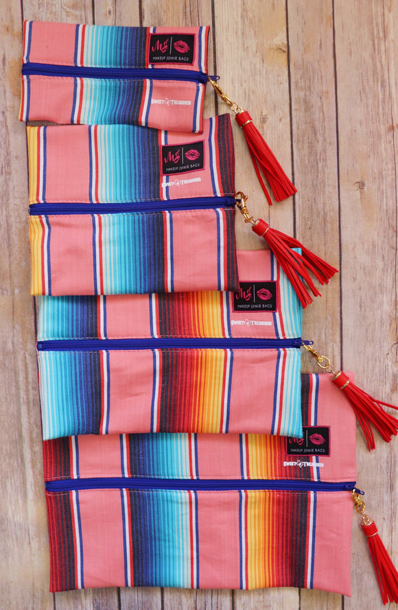 Corral Serape Makeup Junkie Bag