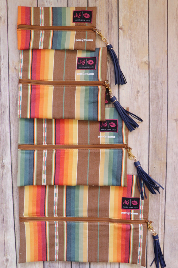 Sol Serape Makeup Junkie Bag