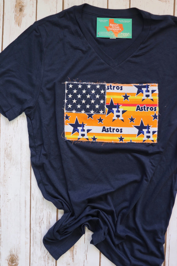 Throwback Astros Nation Flag Tee