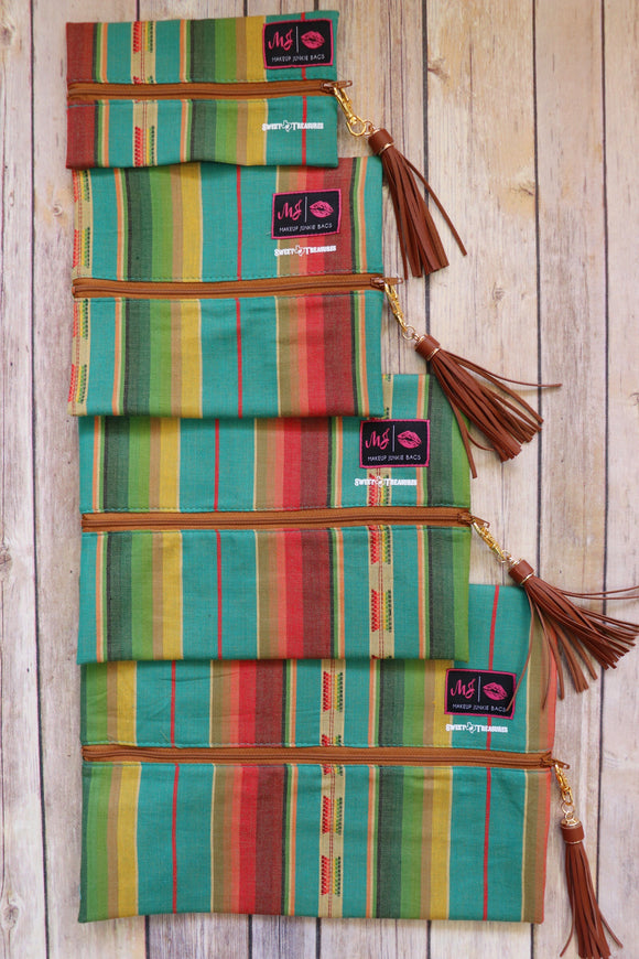 Lago Serape Makeup Junkie Bag