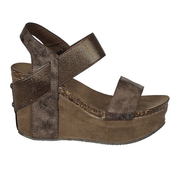 Elsie Elastic Wedge [Brown]