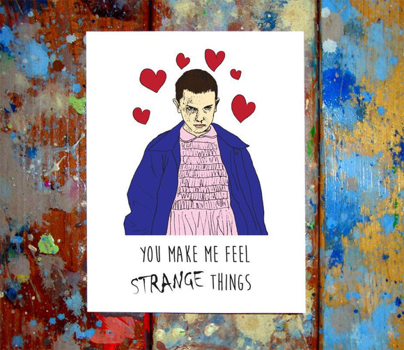 Stranger Things Love Card
