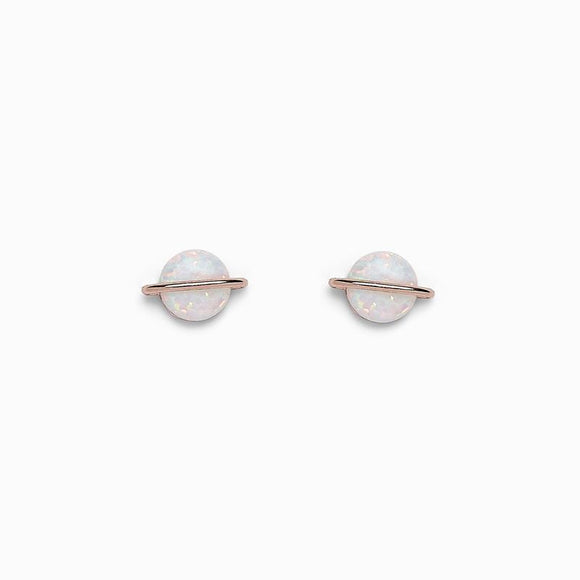 Pura Vida Opal Saturn Stud Earrings
