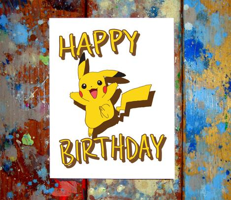Happy Birthday Pokemon Card