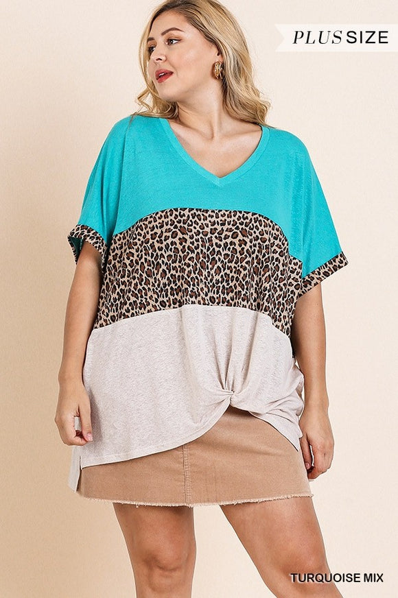 Queen Size Cool Leopard Knot Top