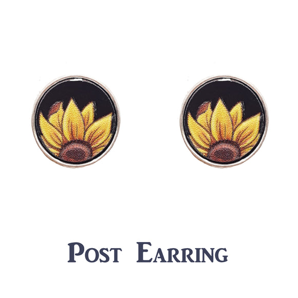 Subtle Sunflower Stud Earrings [3 Colors]