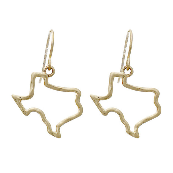 Dangle Texas Outline Earrings [2 Colors]