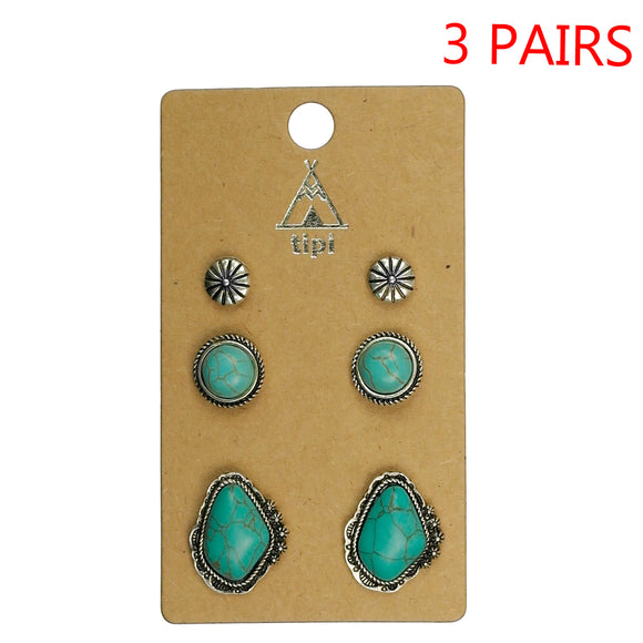 Last Call 3 Piece Turquoise Earring Set