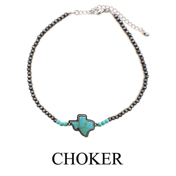 Texas Navajo Pearl Choker [4 Colors]