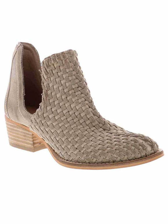 Double Open Weave Leather Bootie