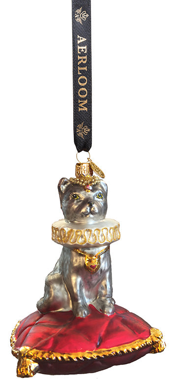 Jester Cat - multi coloured - glass baubles Christmas decorations