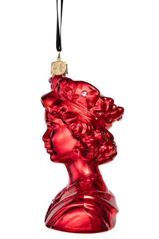 The Queen - Red - glass baubles Christmas decorations
