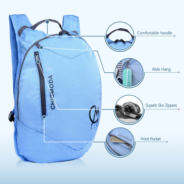 CHICMODA Weatherproof Lightweight Packable Backpack