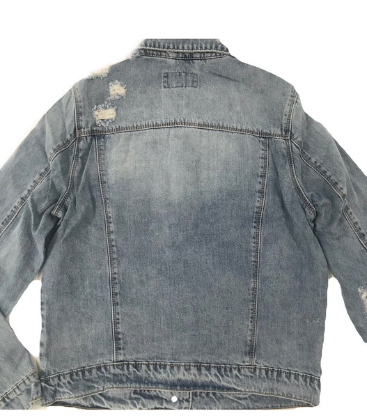 Women's Classic Denim Jacket - Mid Blue Wash