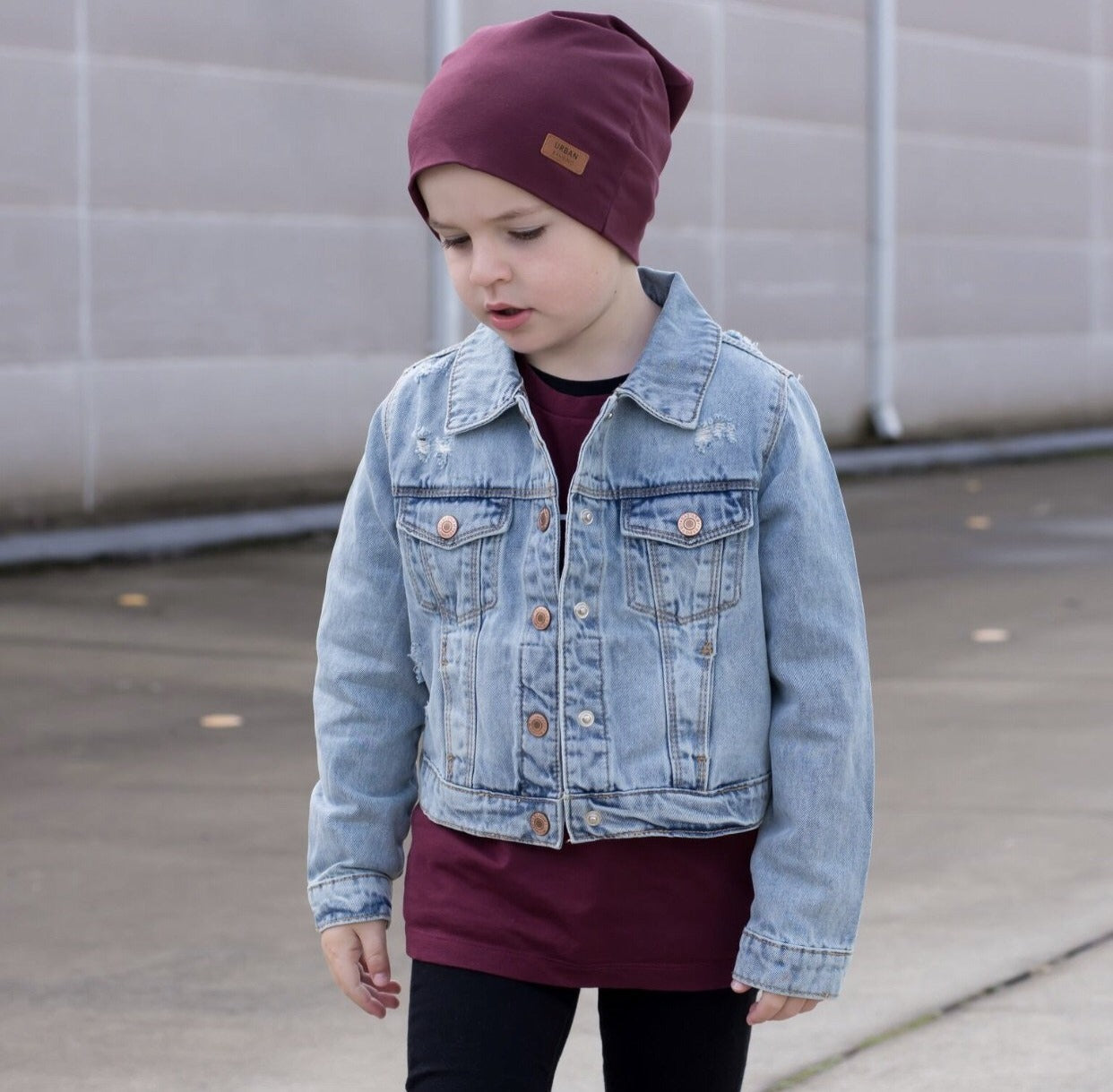 Kids Classic Denim Jackets - Mid blue Wash