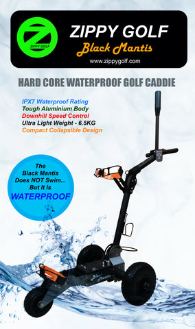 The Waterproof Black Mantis Golf Caddie - Ultra Sleek & Light - 6.5KG