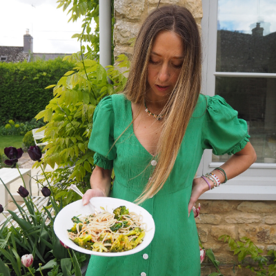 Broccoli Pasta with Pangrattato and Chilli Oil by Nina Parker