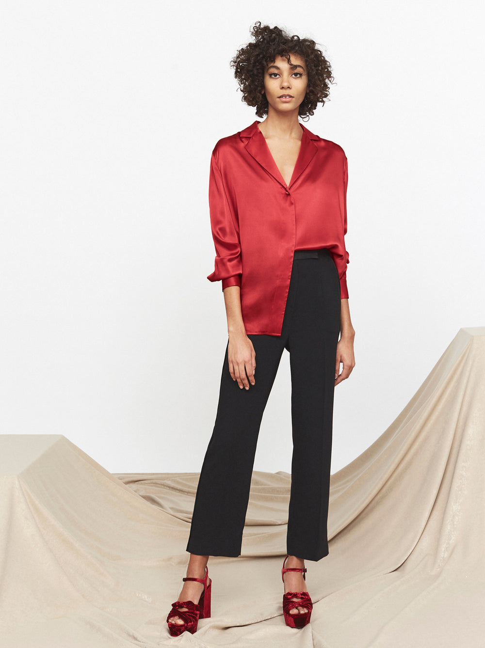 Teresa Silk Oversized Shirt