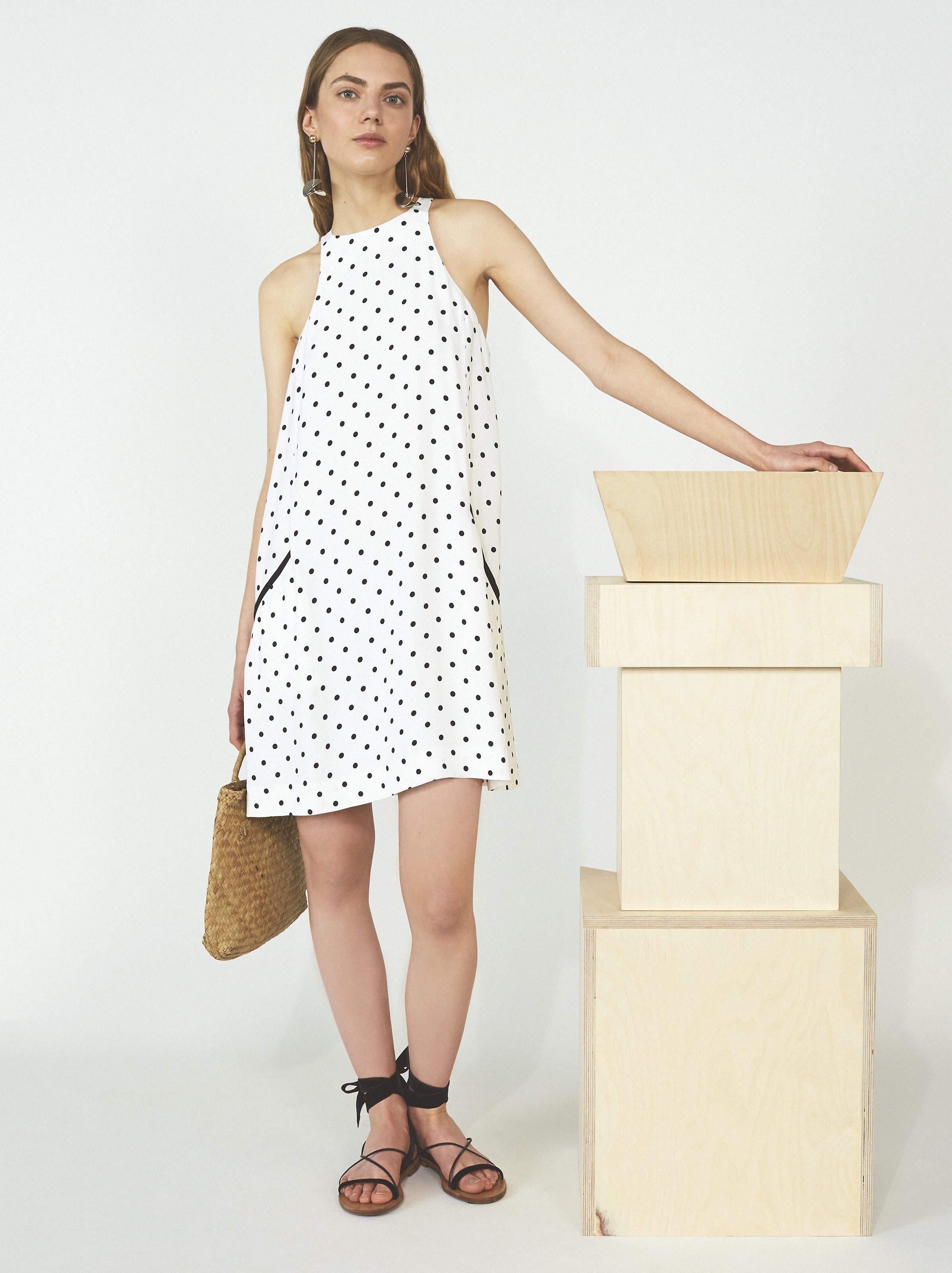 Rojo Polka Dot Dress